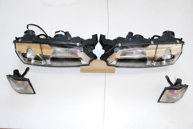 JDM Nissan S14 Silvia Kouki Headlights Lights with corner lights