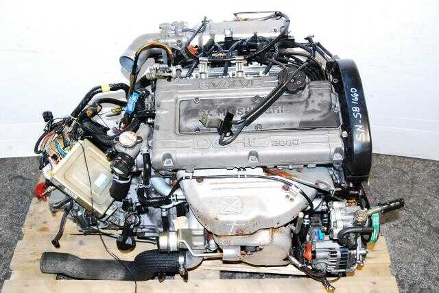 JDM 4G63 Silver Top Engine DOHC 2.0L Turbo MT 2WD Mitsubishi  Eclipse Motor