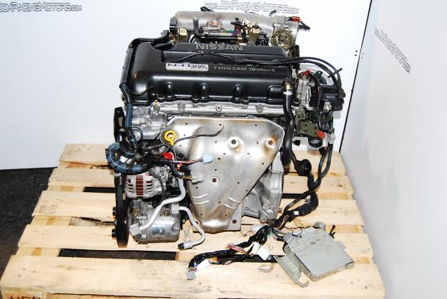 JDM NISSAN SR20 NEO VVL ENGINE, HEAD BLOCK AND WIRING