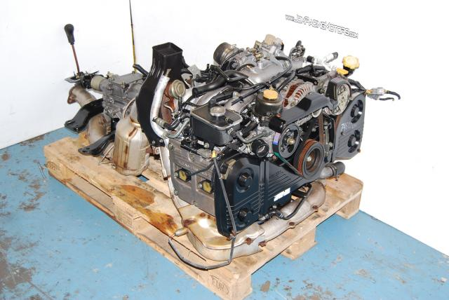JDM EJ20G GC8 Engine with Manual Transmission