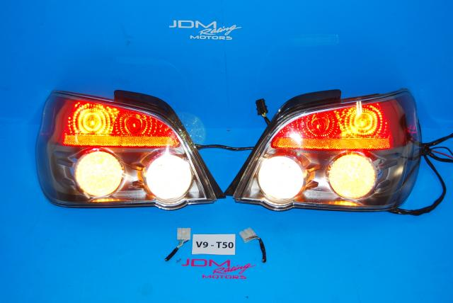 JDM Subaru WRX STI Ver 9 Tail Lights (2006-2007)