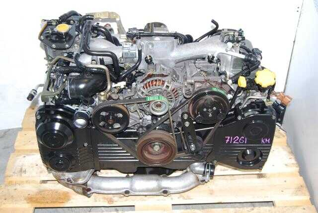Used Subaru EJ205 DOHC Quad Cam Turbo Engine with AVCS function.