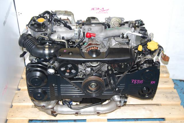 Used Subaru WRX 2002-2005 DOHC EJ205 Motor,  2.0L Quad Cam AVCS TD04 Turbo Engine