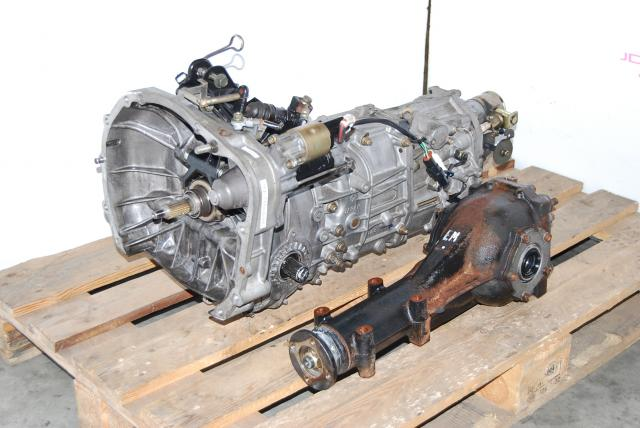 Used Subaru WRX 2002-2004 TY754VB4AA 5-Speed Manual Transmission with Matching R160 4.444 Diff