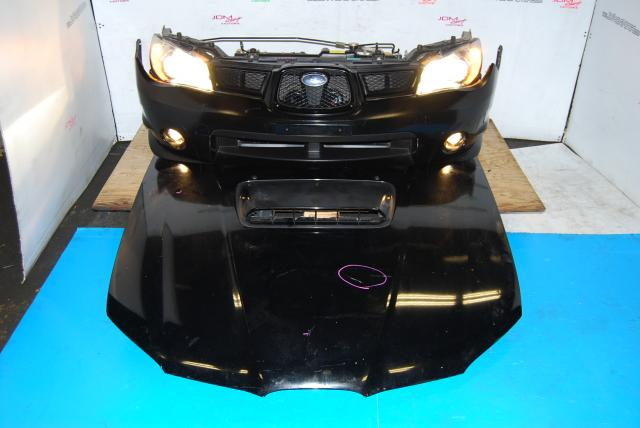 Used Subaru v9 Wagon Front End Conversion, WRX STi Nose Cut with HID Headlights, Hood Scoop, Grill & Foglights