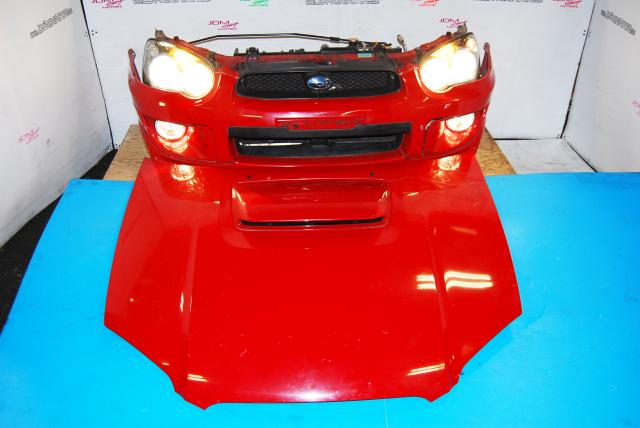 Used Subaru v8 Nose Cut, WRX Wagon Front End Conversion with HID Headlights, Ballasts, Foglights, Radiator & Rad Support