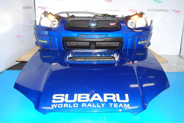 Used Subaru WRX STi v8 Nose Cut, HID Headlights, Fenders, Hood Scoop with Splitter & Foglight Covers