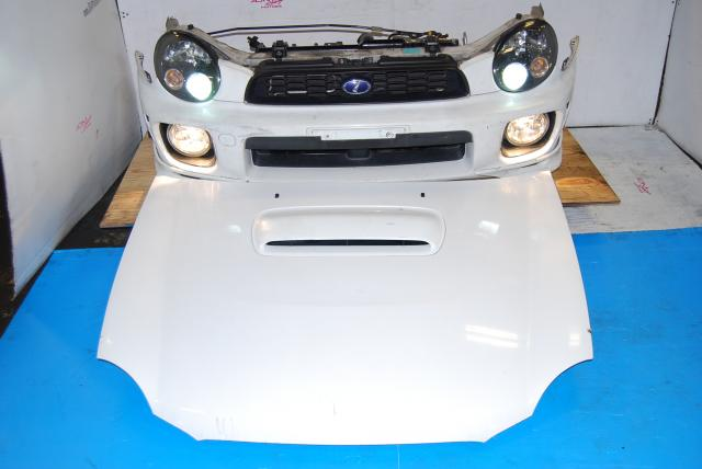 Used WRX v7 Front End Conversion, Sedan Nose Cut with HID Headlights, Foglights, Fenders with Side Markers & Hood Scoop
