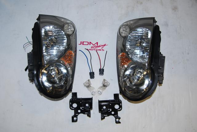 Used Subaru Version 8 Headlights, WRX 2004-2005 HID v8 Lights with Tested Ballasts & Mounting Brackets