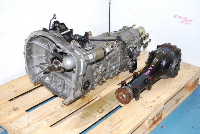Used Subaru TY755VB3AA Transmission & Rear 4.44 LSD Differential, Replacement Transmission for WRX 2005
