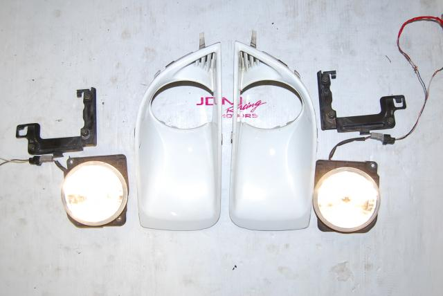 Used Subaru WRX v8 Foglights, Version 8 Fogs with Foglight Bezels & Mounting Brackets