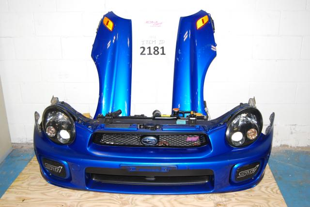 Subaru WRX STi v7 Sedan Nose Cut, Spec C Cooler, HID Headlights, Ballasts & STi Hood Scoop