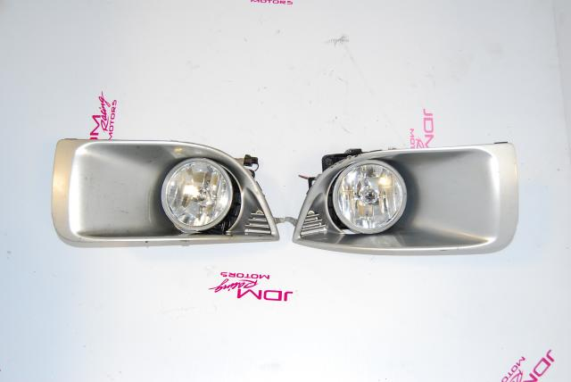 Impreza WRX 2004-2005 Foglights, JDM Fogs with Mounting Brackets and v8 Bezels