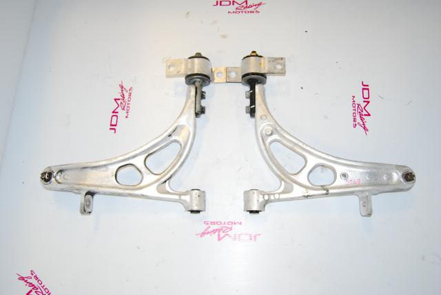 Used Subaru Impreza GC8 Front Lower Aluminum Control Arms with Adapter Cones
