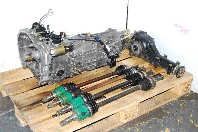 Used Subaru TY754VN2AA 5 Speed Manual Transmission, JDM TY755VB3AA WRX Replacement 5MT with 4.444 Rear Differential