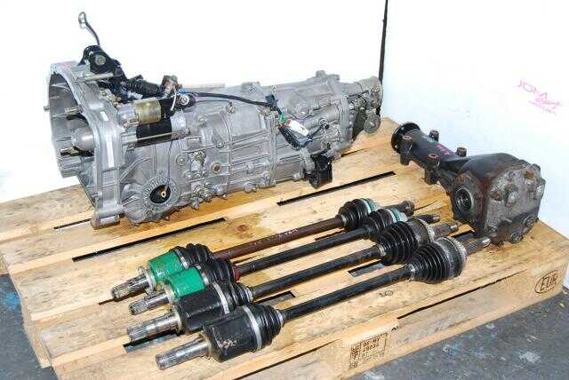 Used Subaru TY754VV4AA 5 Speed Manual Transmission, JDM TY755VB3AA WRX Replacement 5MT with 4.444 Rear Differential