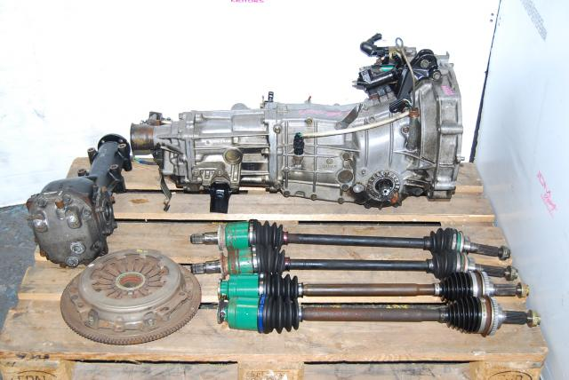 Subaru WRX 2002-2005 TY754VN2AA Transmission 5 speed, JDM TY754VBBAA Impreza replacement 5MT | 4.444 Rear Differential