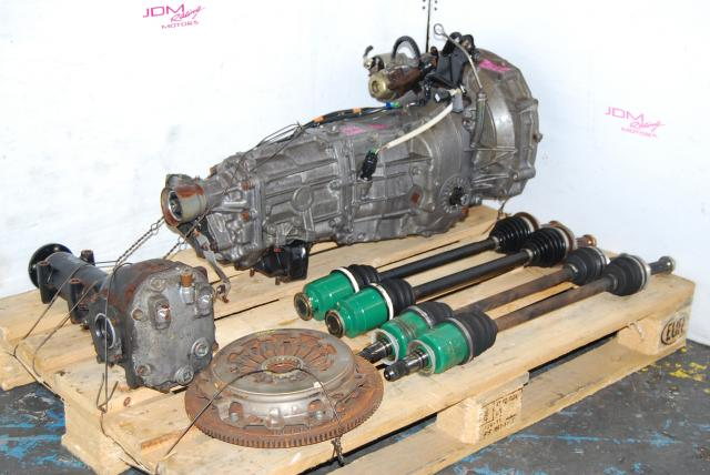 WRX Impreza TY754VN2AA 5 Speed Manual Transmission, JDM TY754VB4AA 5MT with Axles and 4.444 Rear Differential