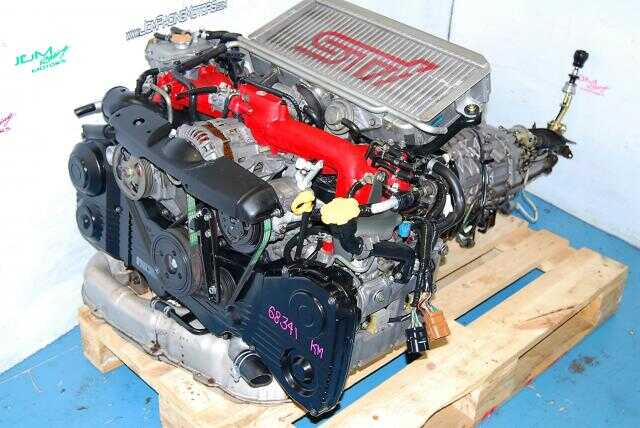 JDM EJ207 STI ENGINE, 6SPEED DCCD TRANSMISSION, VER 8 WITH VF37 TWIN SCROLL TURBO.