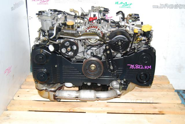 USED SUBARU WRX EJ205 TURBO ENGINE, 2.0 QUAD CAM 2002-2005 IMPREZA