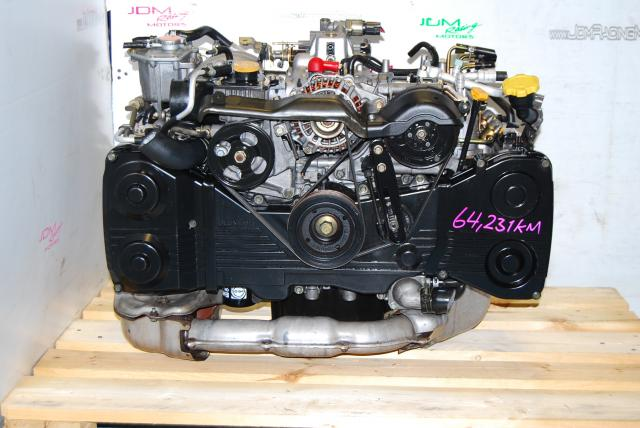 USED SUBARU EJ205 TURBO ENGINE, 2.0 QUAD CAM 2002-2005 IMPREZA WRX