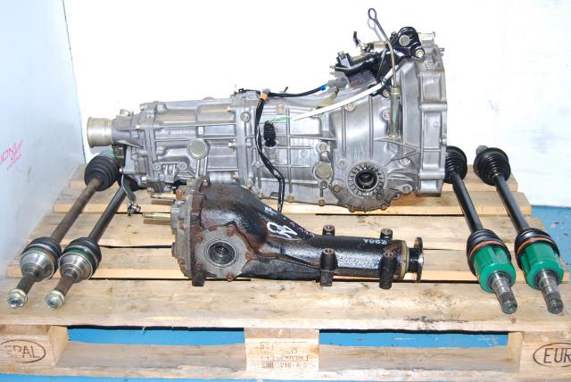 USED SUBARU 5 SPEED MANUAL WRX TRANSMISSION 02-05 TY755VH4AA WITH DIFF AND AXLES