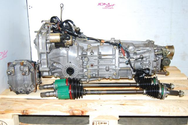 USED SUBARU 5 SPEED WRX TRANSMISSION PACK, TY755VB5BA WITH AXLES AND DIFF