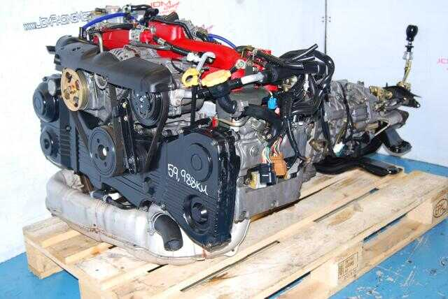 USED SUBARU WRX STI ENGINE, EJ207 VER 8, VF37 TWIN SCROLL TURBO, 6 SPEED DCCD TRANSMISSION