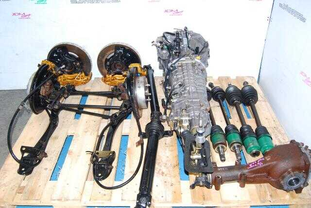WRX STi 6-Speed v7 TY856WB1AA Transmission with R180 Diff, Axles, Driveshaft & Brembos