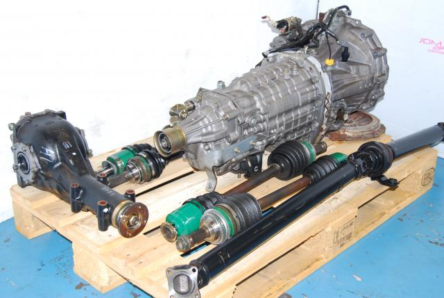 Used WRX STi Version 7 TY856WB1CA Transmission Package, 6MT, R180 LSD Diff, Axles, Driveshaft & Clutch
