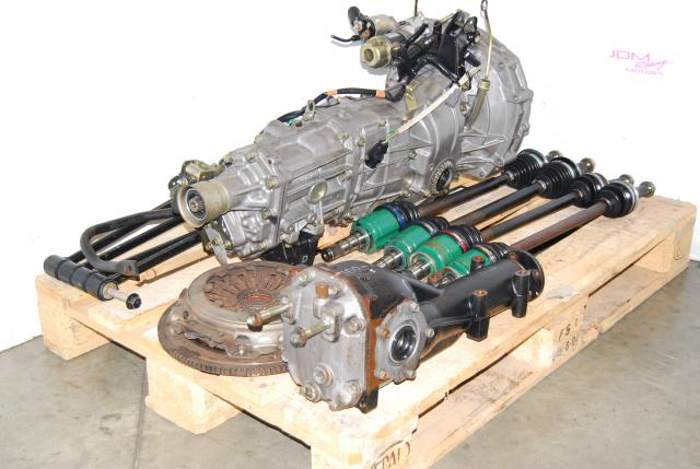 Used WRX 02-05 TY754VZ6AA 5MT Replacement, JDM TY755VB4BA Transmission, 4.444 Diff, Axles & Lateral Links
