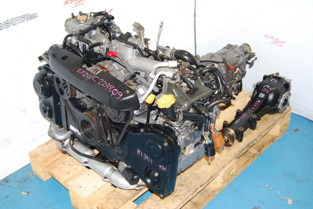 Impreza WRX 2002-2005 EJ205 Engine & Transmission, Quad Cam AVCS Turbo 2.0L EJ20T Motor & 5MT LSD Package