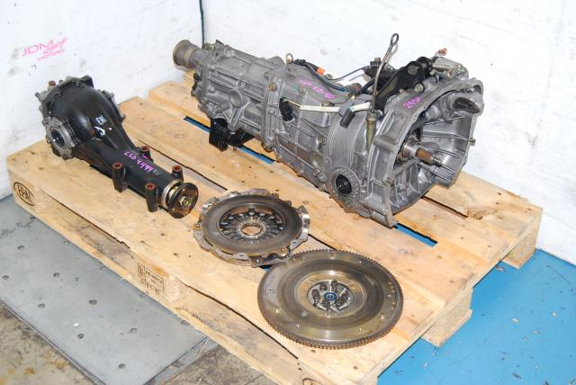 Subaru WRX 2005-2007 TY754VB6AA 5 Speed Manual Transmission, JDM TY755VB3AA Replacement 5MT with 4.444 LSD Differential