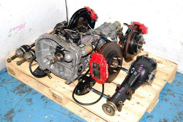 Used WRX 2002-2005 TY754VN2BA 5MT Replacement, JDM TY755VB5BA Transmission, 4.444 Diff & Complete Brake Kit
