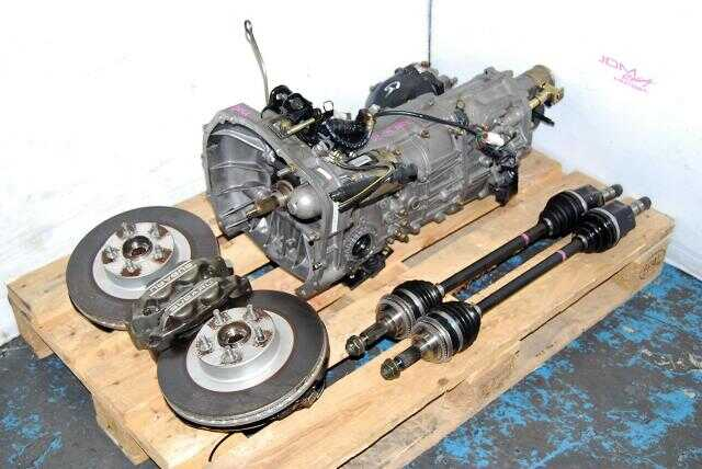 Impreza WRX 02-05 TY754VZ6AA 5MT transmission Replacement, JDM TY755VB3AA Transmission, 4.444 Diff & Front Brake Kit