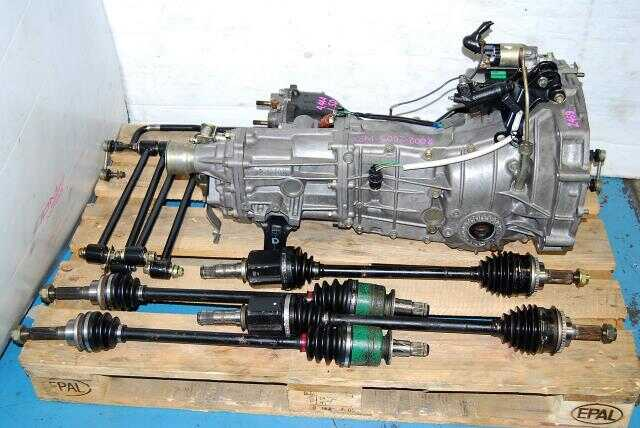 TY754VZ6AA WRX 02-05 manual transmission, JDM TY754VB6AA Transmission, 4.444 LSD Diff, Axles & Lateral Links