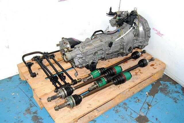 Impreza WRX 02-05 TY754VN2BA 5 Speed Manual Transmission Replacement, JDM TY754VB4AA 5MT, 4.444 LSD Diff, Axles & Lateral Links