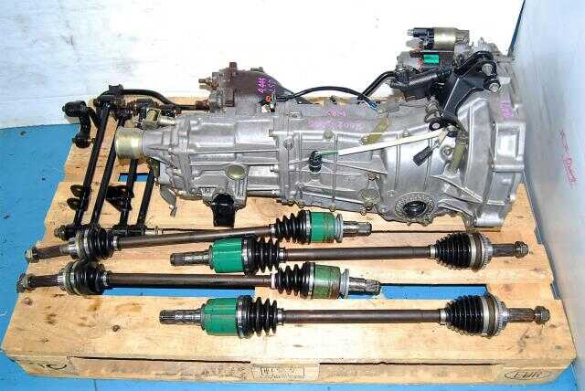 WRX 2002-2005 TY754VZ6AA 5 Speed Manual Transmission Replacement, JDM TY754VB6AA 5MT, 4.444 LSD Diff, Axles & Lateral Links