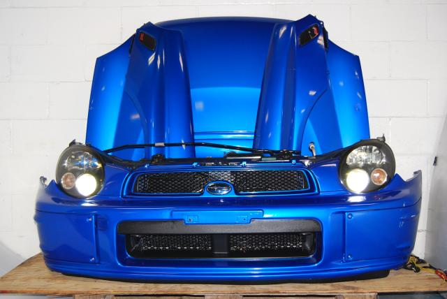 Impreza WRX 2002-2003 Bugeye Version 7 Prodrive Nose Cut, Fenders, Hood with Scoop, Foglight Covers & HID Headlights with Ballasts