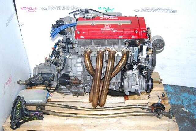 JDM Acura Integra B18C Type-R Engine with Mugen Headers, DC2 OBD2A Civic Motor & S80 LSD Manual Transmission Complete Package