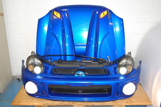 Bugeye WRX 02-03 Version 7 Prodrive Nose Cut, Hood with Scoop, Foglights, HID Headlights with Ballasts & V7 Fenders with Side Markers
