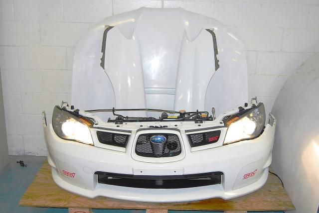 Used Impreza WRX STi Version 9 Nose Cut Conversion, Hood, Fenders, Grill & Hawkeye Headlights (tested) Complete Front End Conversion