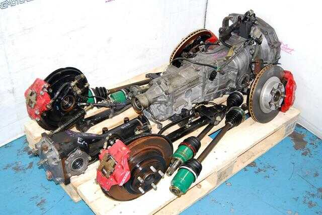Impreza WRX 2002-2005 TY754VN2BA 5MT Replacement, JDM TY755VB1AA Transmission, 4.444 Diff & Complete Brake Kit