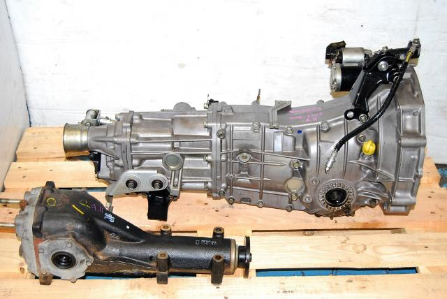Subaru WRX 2008-2009 TY758VW1AA 5MT Replacement, JDM Push Type 5 Speed Transmission with 4.11 LSD Differential