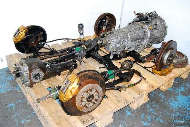 JDM STi Forester TY856WL4CC 6-Speed Transmission Package, R180 3.9 Final Drive Differntials, Brembo Calipers & Axles