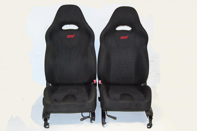 Subaru Forester SG9 2003-2008 Front Seats, JDM STi Spec-C Black SG Driver & Passenger Seating