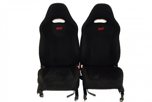 SG9 Forester 2003-2008 Driver & Passenger Seats, JDM STi  Black SG Front Seating