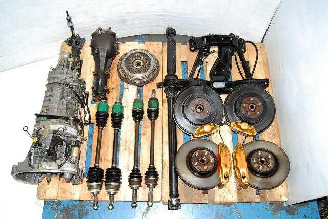 WRX STi 2002-2007 TY856WB3KA Transmission For Sale, Version 8 DCCD Complete 6MT Package