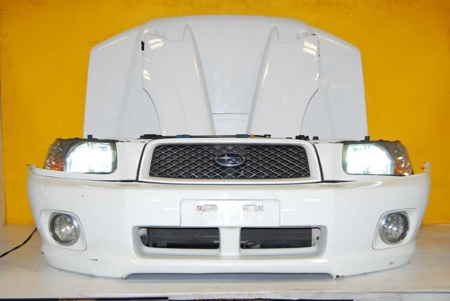Subaru Forester SG5 Cross Sport Complete Front End Conversion, SG White w/ HID Headlights, SG fenders, Hood with scoop