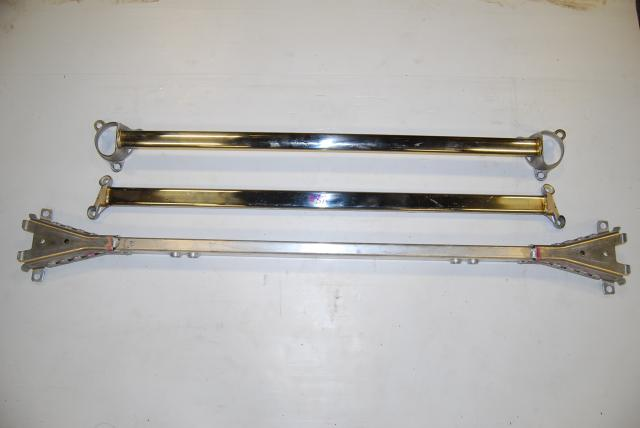 Acura RSX Honda Integra Genuine MUGEN Strut tower bar, JDM DC5 Brace bar set